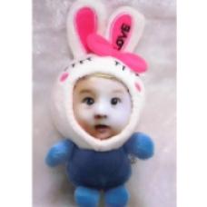 【i930個性小舖】變臉娃娃--藍色美人兔(8cm)