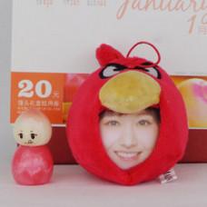 【i930個性小舖】變臉娃娃--紅色憤怒鳥(8cm)